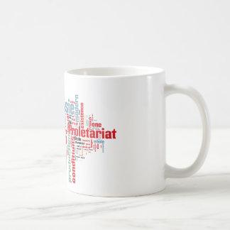 Communist Manifesto Word Cloud Coffee Mug