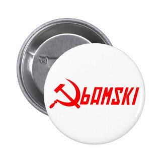 Communist Obama Pinback Button
