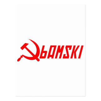 Communist Obama Postcard