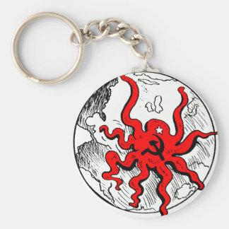 Communist Octopus Basic Round Button Keychain