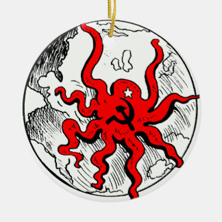 Communist Octopus Ceramic Ornament