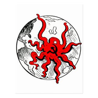 Communist Octopus Postcard
