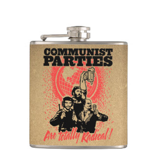 Communist Parties Hip Flask