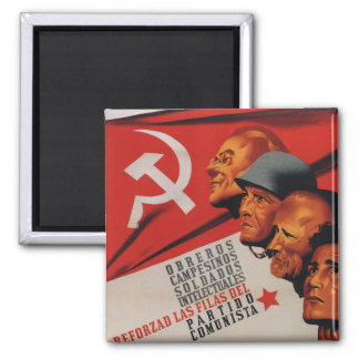 Communist party (1937)_Propaganda Poster Magnet