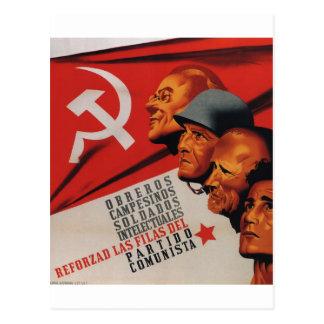 Communist party (1937)_Propaganda Poster Postcard