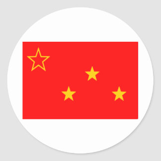Communist Party of Burma flag (1939-1946) Classic Round Sticker