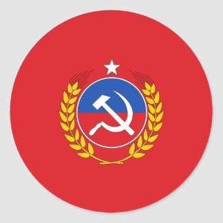 Communist Party Of Chile, Chile flag Classic Round Sticker