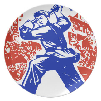 Communist Party of China Dinner Plate
