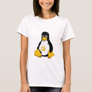 Communist Penguin ( Linux ) on White Baby Doll T-Shirt