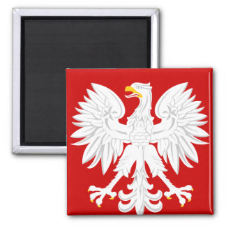 Communist Poland 2 Inch Square Magnet