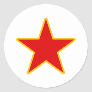 Communist Red Star Classic Round Sticker