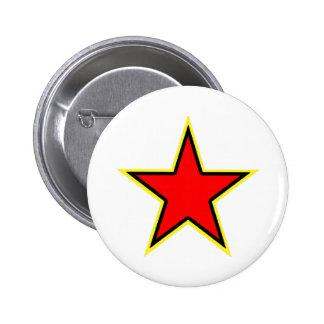 Communist Red Star Pinback Button