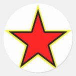 Communist Red Star Round Stickers