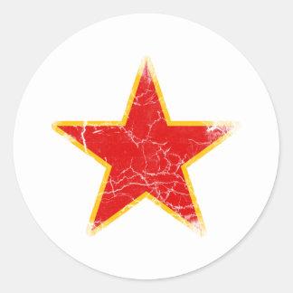 Communist Red Star Vintage Stickers