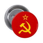Communist Russia Flag USSR Button