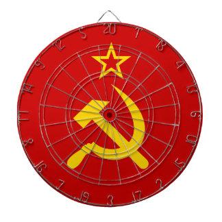 Communist Russia Flag USSR Dart Board