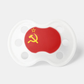 Communist Russia Flag USSR Pacifier