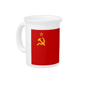 Communist Russia Flag USSR Pitchers