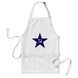 Communist Star Adult Apron