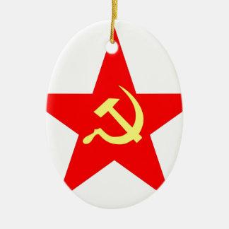 Communist star ceramic ornament