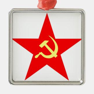 Communist star metal ornament