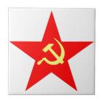 Communist star small square tile