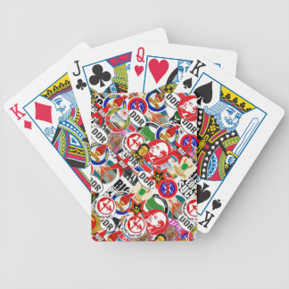 Communist Stickerbomb Bicycle Playing Cards
