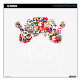 Communist Stickerbomb PS3 Controller Decal