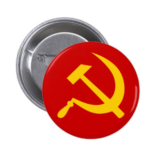 Communist USSR Russian Hammer and Sickle 2 Inch Round Button