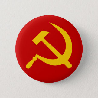 Communist USSR Russian Hammer and Sickle Button