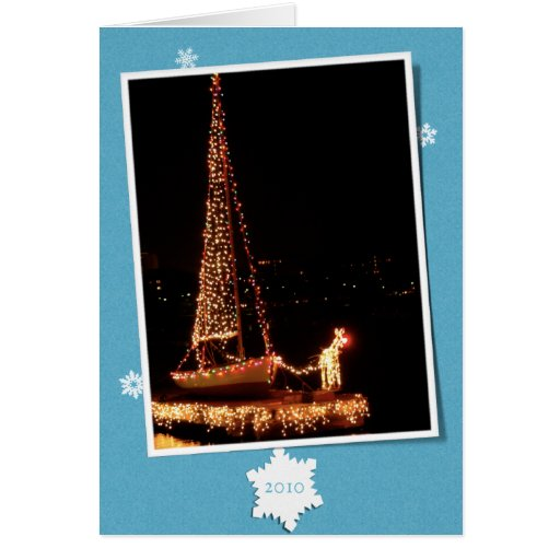 Community Boating Rudolph-2010 Stationery Note Card