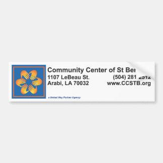 Community Center Bumper Sticker Car Bumper Sticker