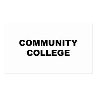 Community College Pack Of Standard Business Cards