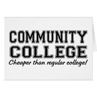 Community College: Cheaper than Regular College! Card