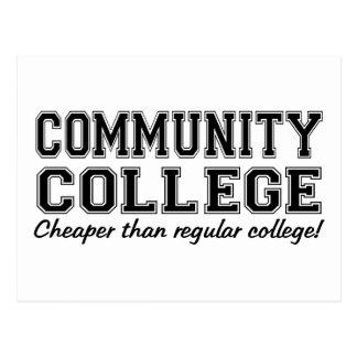 Community College: Cheaper than Regular College! Postcard