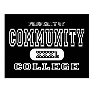 Community College Dark Postcard