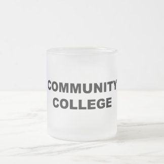 Community College Frosted Glass Coffee Mug