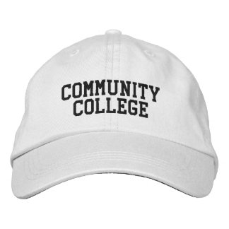 Community College Head Protector Embroidered Baseball Cap