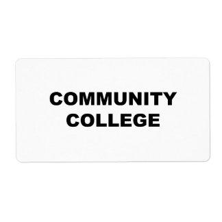 Community College Label