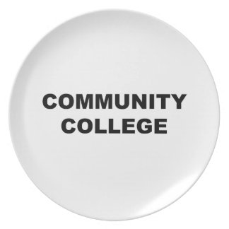 Community College Plate