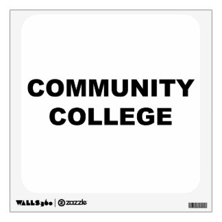 Community College Wall Decal