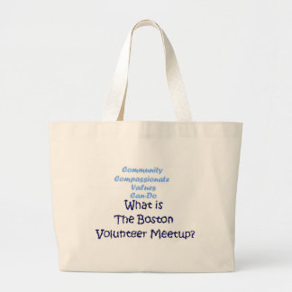 Community, Compassionate, Can-Do... Great value! Canvas Bags