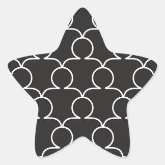 community crowd star sticker
