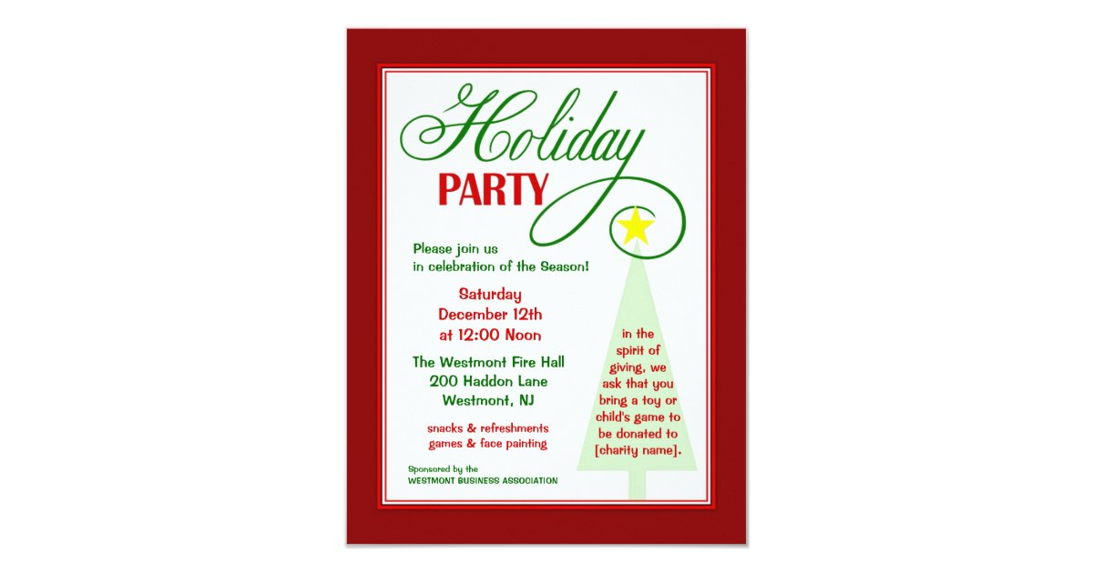 Kids Christmas Party Invitations & Announcements | Zazzle