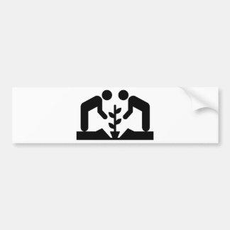 Community garden bumper sticker