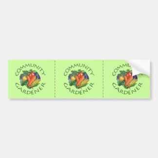 Community Gardening Bumper Sticker