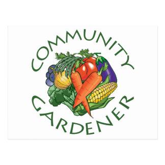 Community Gardening Postcard