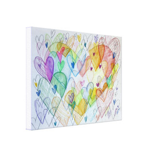 Community Hearts Canvas Painting Art Painting