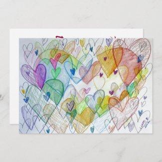 Community Hearts Color Invitation