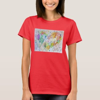 Community Hearts Color Love Artwork Shirt